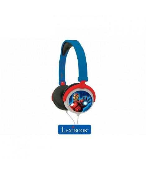 LEXIBOOK - MARVEL - Casque Audio Stéréo, Puissance sonore Limitée, Pliable et Ajustable
