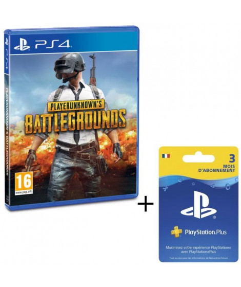 Pack PlayerUnknown's Battlegrounds - PUBG - Jeu PS4 + Abonnement Playstation Plus 3 Mois
