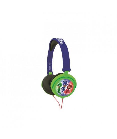 LEXIBOOK - PYJAMASQUES - Casque Audio Stéréo, Puissance sonore Limitée, Pliable et Ajustable