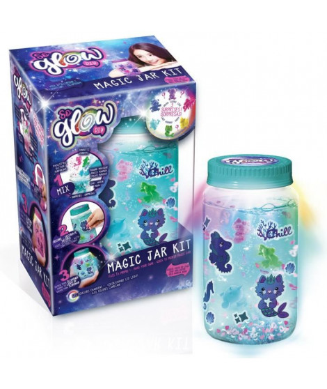 CANAL TOYS - SO GLOW DIY -  Grande Magic Jar Kit - Crée ta Magic Jar Lumineuse !
