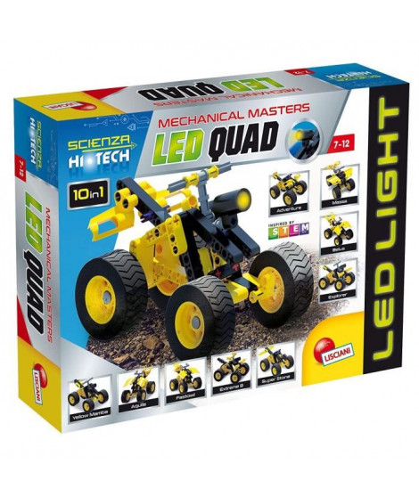 LISCIANI GIOCHI Jeux de construction Stem Technics 10 En 1 - Quads a leds