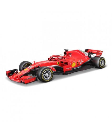 BBURAGO Voiture Ferrari Vettel 2018 Formule 1 1/18eme - Rouge