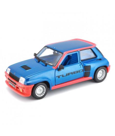 BBURAGO Voiture Renault R5 Turbo 1 1/24eme - Bleu