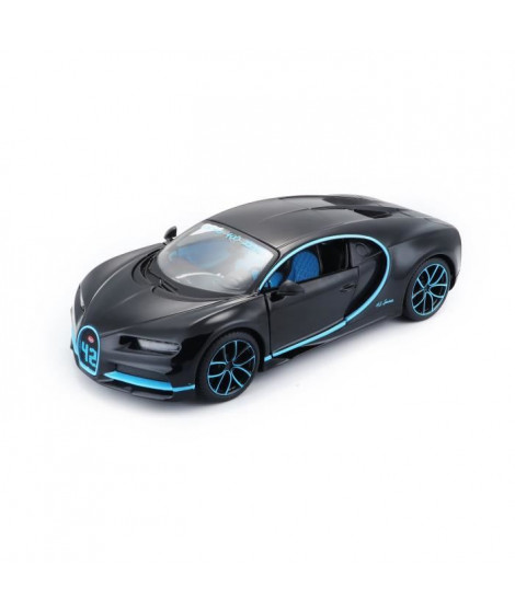 MAISTO Voiture Bugatti Chiron Edition Spéciale 0-400-0 km/h 42s 1/24eme - Noir