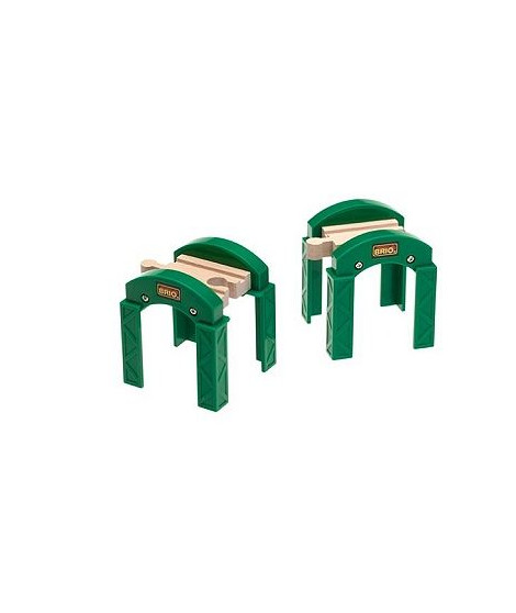BRIO World  - 33253 - Supports De Pont Empilables - Jouet en bois