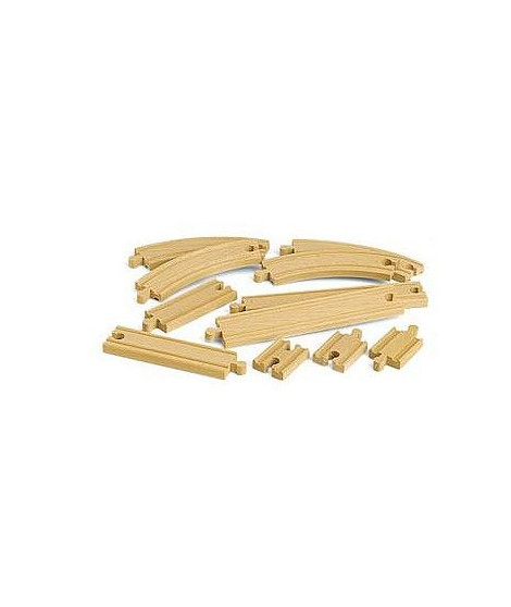 BRIO World - 33401 - Coffret Evolution Debutants -11 Rails - Jouet en bois