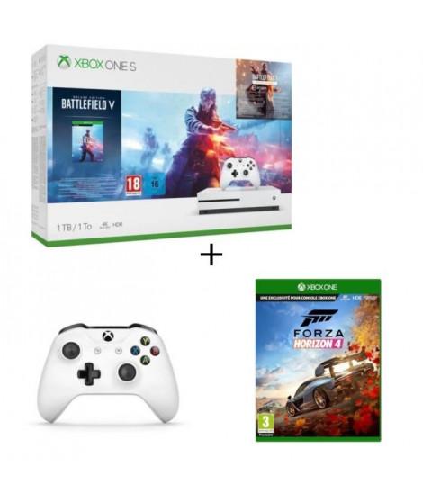 Xbox One S 1 To Battlefield V + 2e manette + Jeu Xbox One Forza Horizon 4