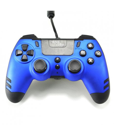 Manette filaire SteelPlay Metaltech Bleue pour PS4