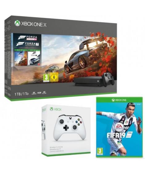 Xbox One X 1 To Forza Horizon 4 + Forza Motorsport 7 + 2e manette + Fifa 19