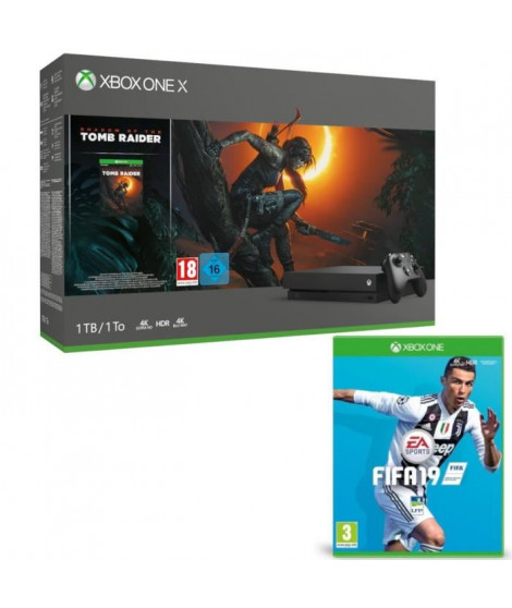 Xbox One X 1 To Shadow of The tomb Raider + Fifa 19