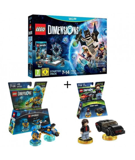 Pack LEGO: Starter Pack Wii U Lego Dimensions + 2 Figurines LEGO Dimensions: Jay Ninjago + Knight Rider