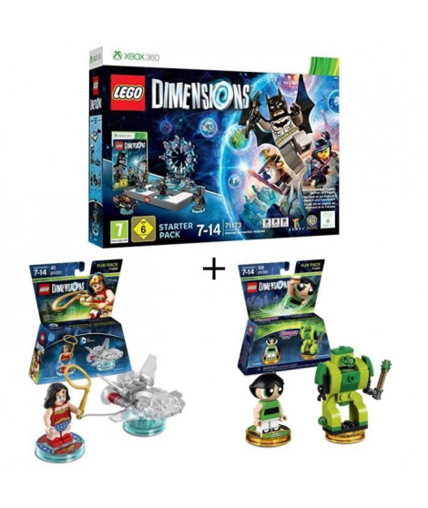 Pack LEGO: Starter Pack Xbox 360 Lego Dimensions + 2 Figurines LEGO Dimensions: Wonder Woman + Powerpuff Girls