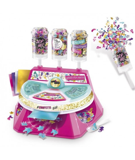 CANAL TOYS - ONLY 4 GIRLS - Confetti Bar - Push Pop Party !