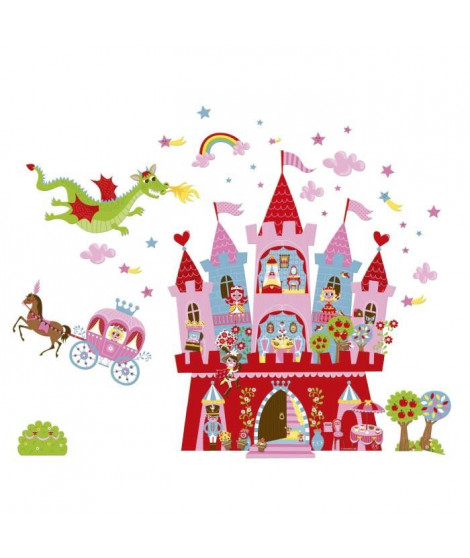 JANOD Sticker mural magnétique Château de princesse