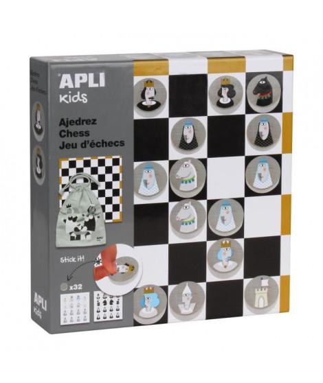 APLI Jeu d'échecs - Illustré + Gommettes