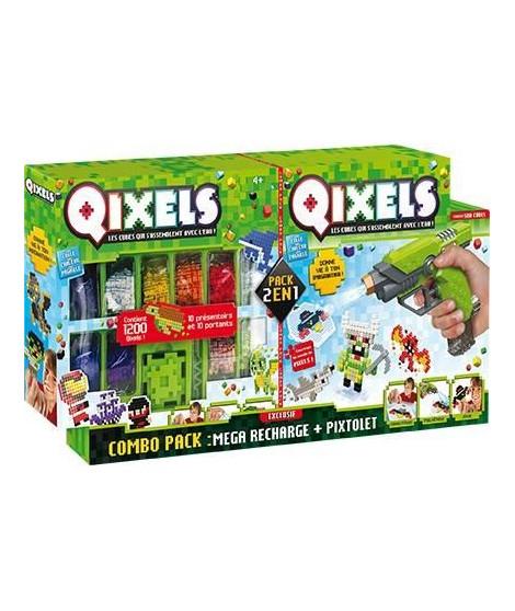 QIXELS - Combo Pixtolet et Méga recharges - A partir de 4 ans