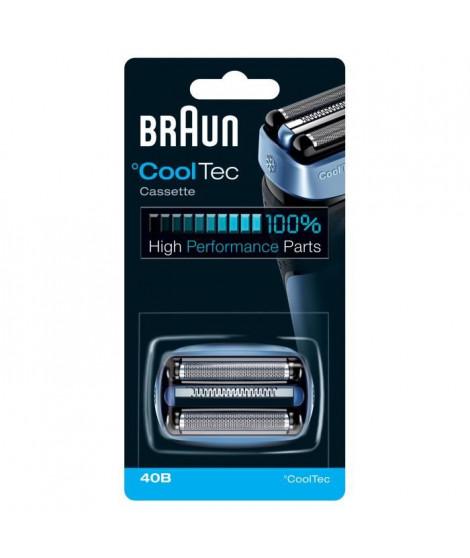 Piece De Rechange compatible avec les rasoirs CoolTec- BRAUN 40B Bleue
