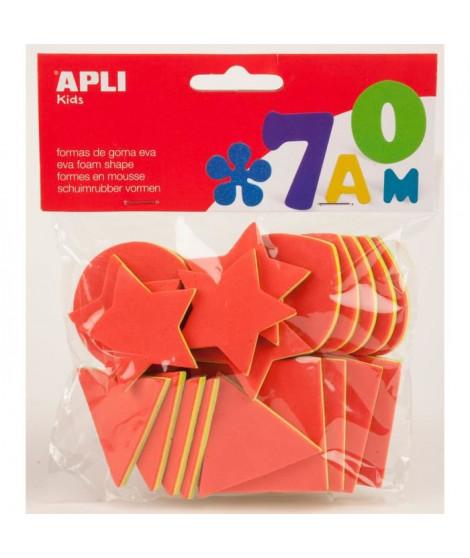 APLI Pochette de 25 formes géométrique En mousse - Tricolore