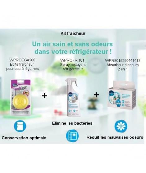 Pack Kit Fraîcheur - Spray nettoyant 500ml + Boîte fraicheur pour bac a légumes + Absorbeur d'odeurs 2 en 1