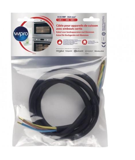 WPRO CCB340/1 - Câble H05 RRF 3G4 sans prise - longueur 1,45m pour appareils de cuisson  5750 watts