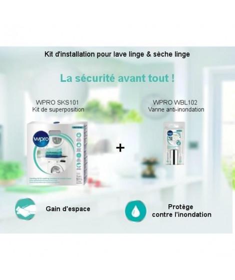 Pack Kit d'installation - Kit de superposition + Vanne anti-inondation