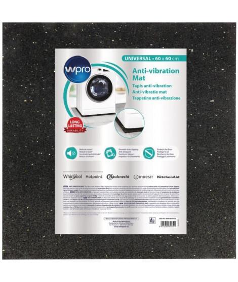 WPRO ANT100 - Tapis anti-vibration pour lave-linge - 60x60cm