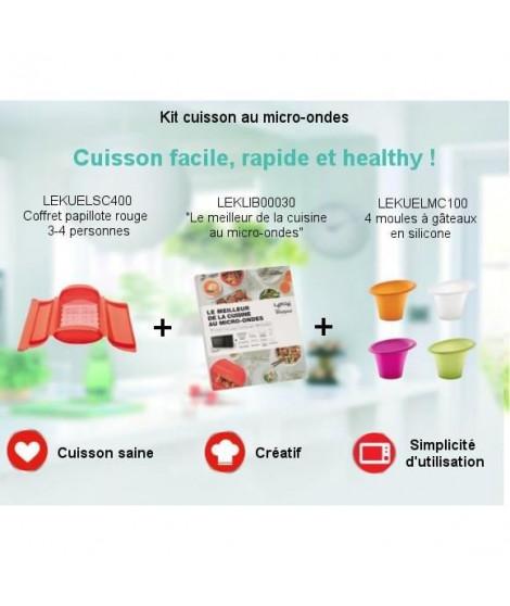 Pack Kit Cuisson facile, rapide et healthy - Coffret papillote + Livre de recettes + 4 Moules en silicone