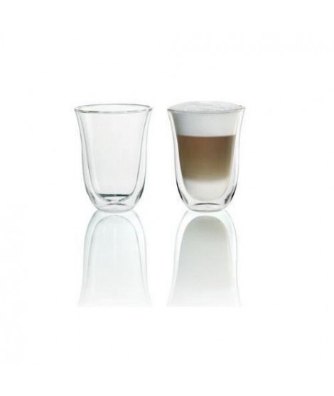 DELONGHI Lot de 2 tasses Latte Macchiato - 22 cl