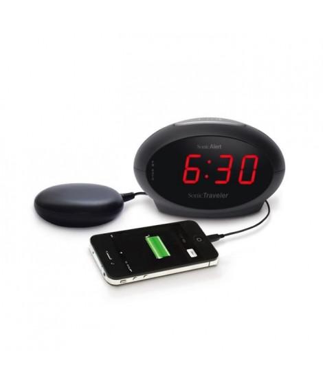 Réveil malentendant vibreur GEEMARC Sonic Traveller SBT 600SS - Port USB