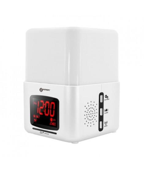 GEEMARC Radio-Réveil avec vibreur et luminothérapie Wake'n'Shake LIGHT