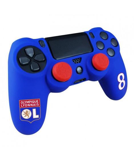 Kit e-sport Olympique Lyonnais OL N°8 - Deluxe - Bleu - Pour manette PS4