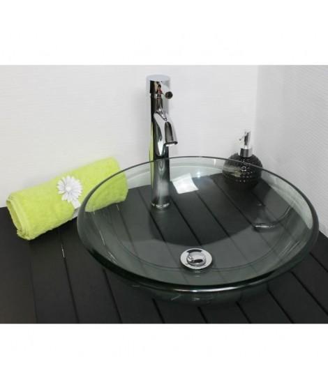 Vasque en verre Mitra transparent