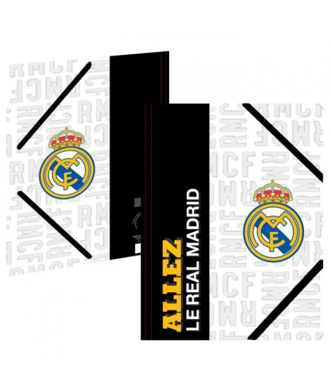 REAL MADRID Chemise A4 183RMA108TRA - Carton - 3 rabats - Fermeture élastique - 24 x 32 cm
