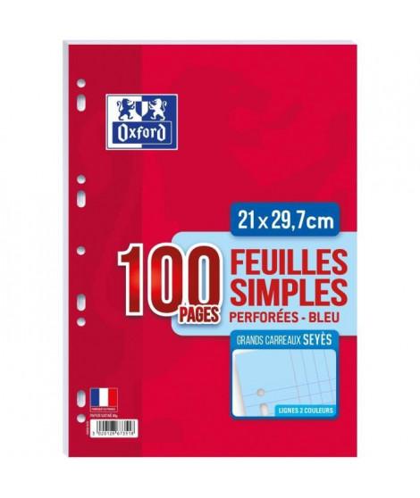 OXFORD Feuilles mobiles A4 Seyes - Bleu