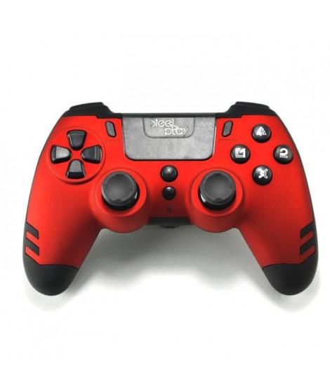 Manette sans fil SteelPlay Metaltech Rouge pour PS4