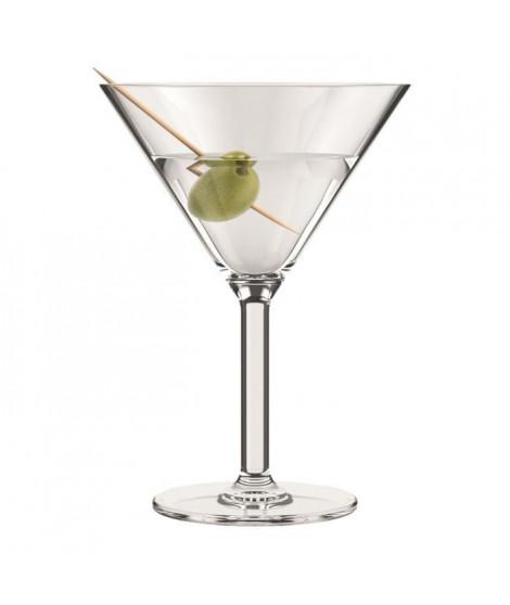 BODUM - OKTETT - 4 Verres a Martini en plastique - Incassable - Réutilisable - 0.18l