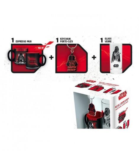 Pack Mug + Porte-clés + Mini Mug Star Wars - Verre 29cl + Porte-clés PVC + Mini Mug Dark Vador - ABYstyle