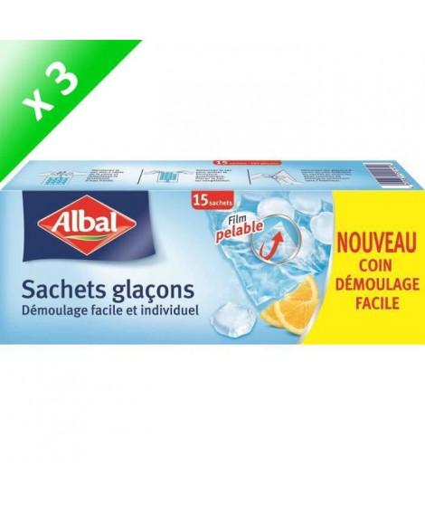 ALBAL Sachets pour glaçons - 15 pieces - Lot de 3