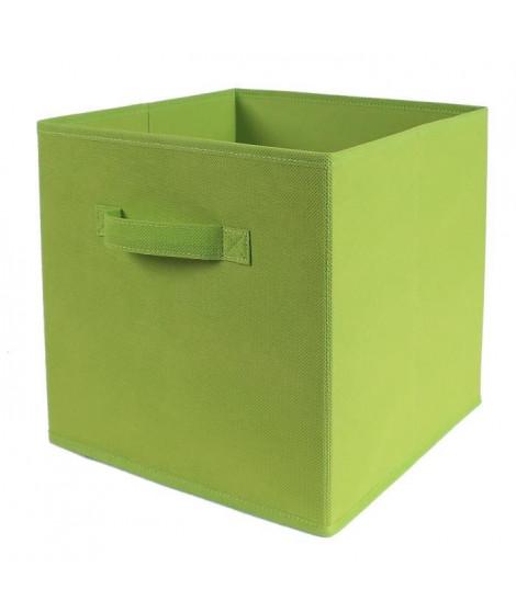 CASAME Cube pliable en intissé - 28 x 28 x 5 cm - Vert
