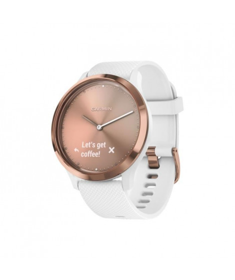GARMIN Vivomove HR Montre connectée hybride - Rose gold - Bracelet blanc