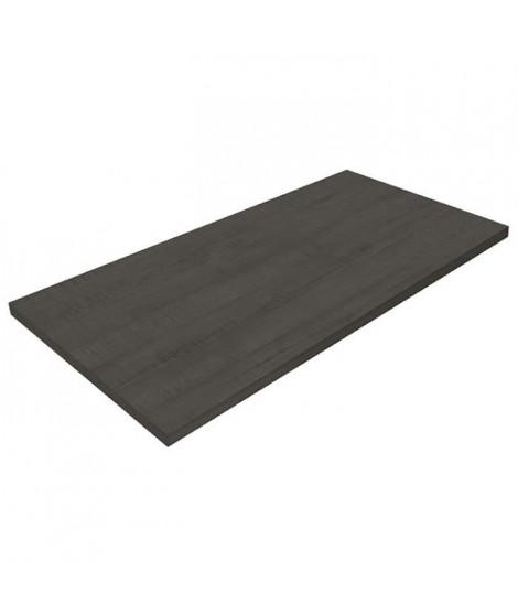 POLYREY Plan de travail Stratifié HPL Hydrofuge L 307 x P 65 x H 3,8 cm bois noir