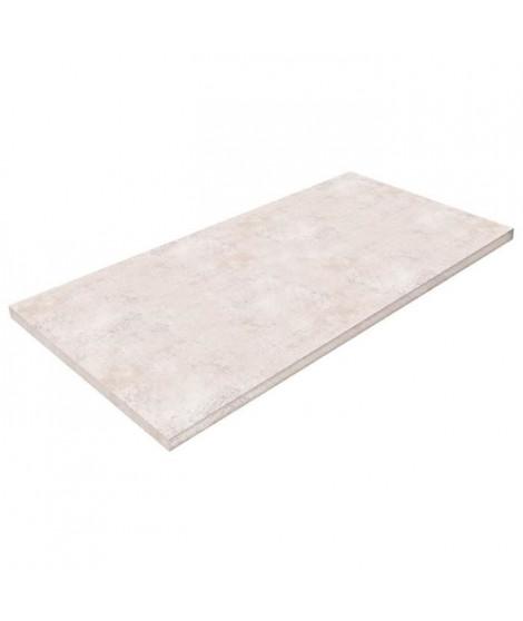 POLYREY Plan de travail Stratifié HPL Hydrofuge L 307 x P 65 x H 3,8 cm ciment blanchi