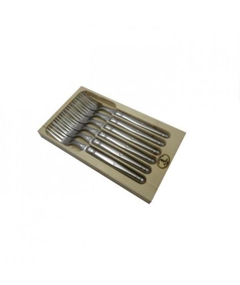 LAGUIOLE Lot de 6 fourchettes - Inox - Manche Inox