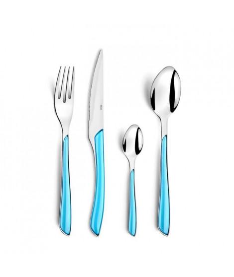 AMEFA Valisette de 24 couverts Gamme Eclat - Bleu turquoise