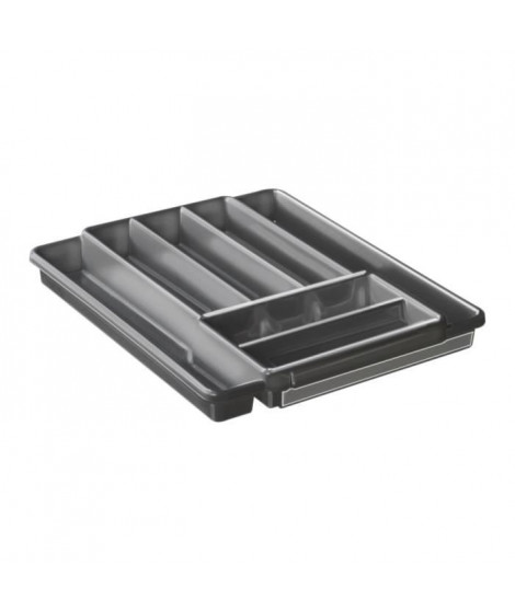 SUDIS Range Couverts extensible 7 compartiments 7525003 39,7x34,1x5,1 cm anthracite