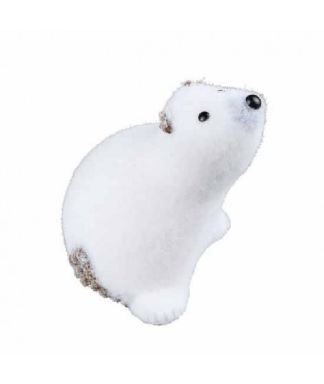 Phoque blanc assis h11cm