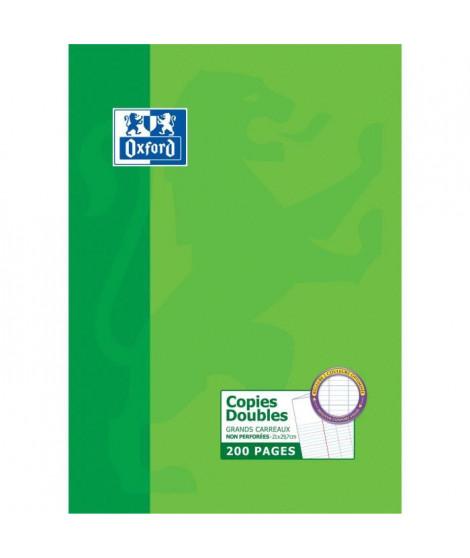 OXFORD 200 Copies doubles perforées - Grands carreaux - 29,7 cm x 21 cm x 0,9 cm