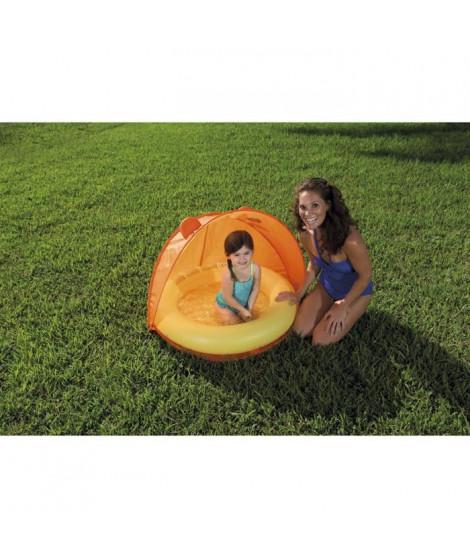 BESTWAY Piscinette et couverture UV Careful Orange - 97 x 107 x 74 cm