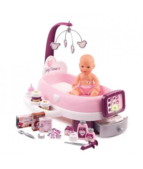 SMOBY Baby Nurse Nursery Electronique + Poupon Pipi - 24 Accessoires