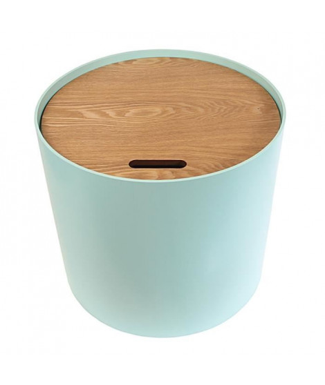 Bout de canapé coffre - Vert d'eau - L 48 x P 48 x H 43 cm